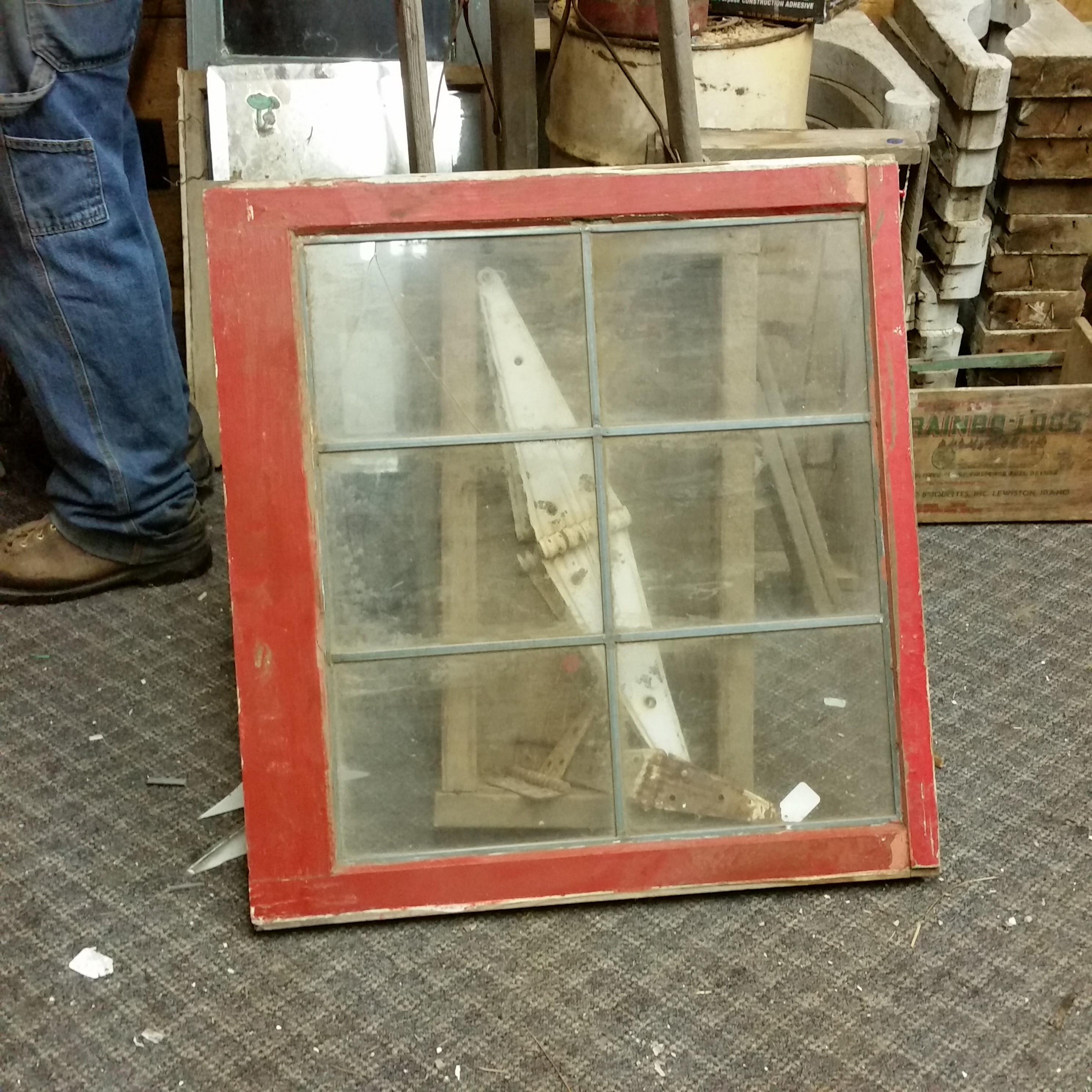 Rare 6 pane leaded window (several in stock)   The Prairie Barn