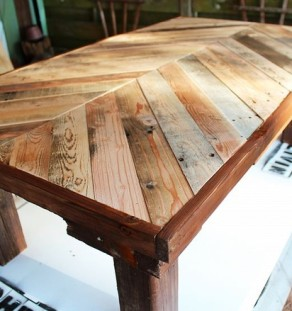 Herringbone coffee table