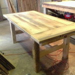 Simple vintage wood table