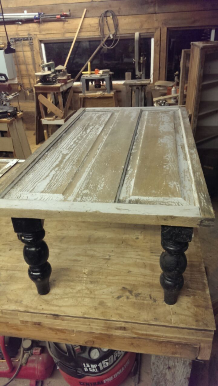 Reclaimed Vintage Door Coffee Table The Prairie Barn