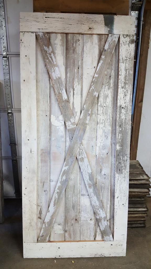 Shabby Chic White Door W Cross Buck The Prairie Barn