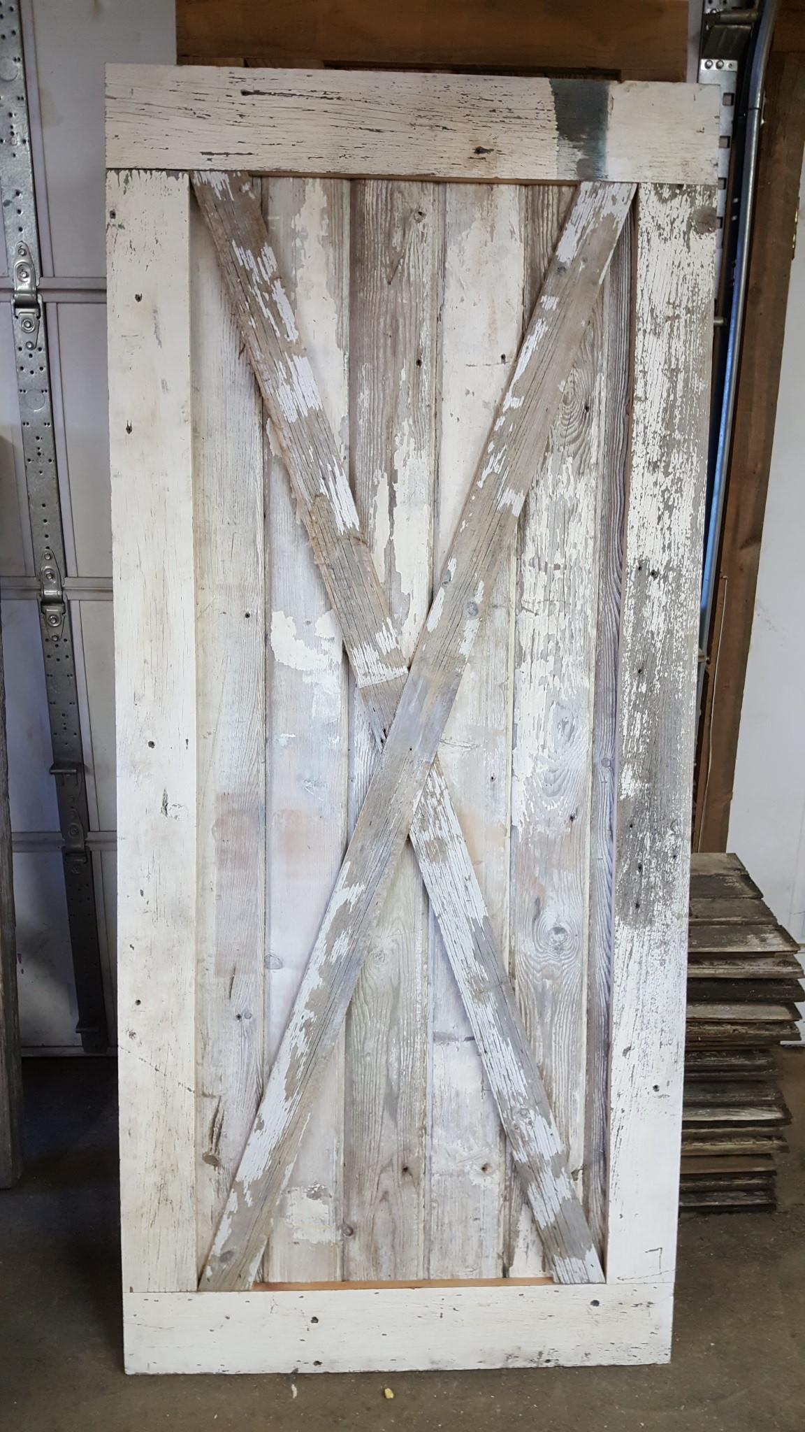 Shabby Chic White Door W/ Cross Buck