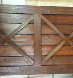 DBL crossbuck basic door